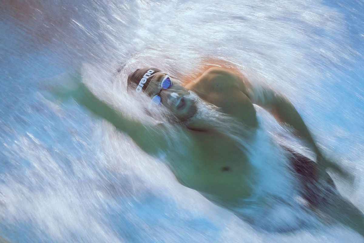 Italy's Gregorio Paltrinieri competes in a heat for the men's 1,500m freestyle event during the swimming competition at the 2019 World Championships at Nambu University Municipal Aquatics Center in Gwangju, South Korea, on July 27, 2019.