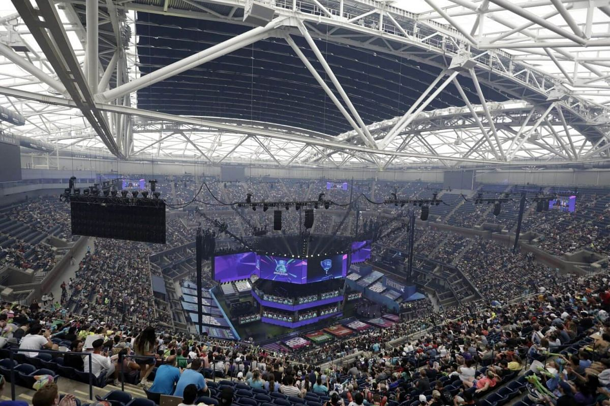 The finals of the Solo competition at the 2019 Fortnite World Cup at Flushing Meadows Arthur Ashe stadium in New York on July 28, 2019.