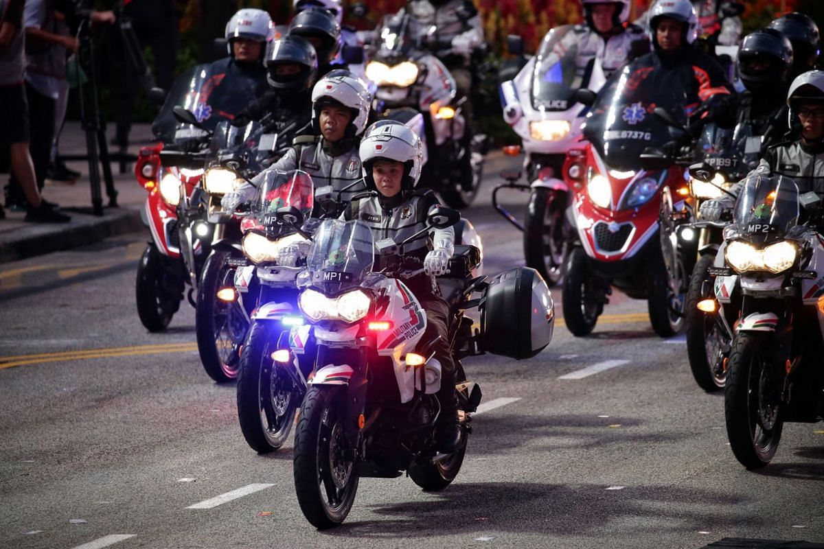 First Sergeant Soh Jia Yu will be the first woman lead rider for the bike contingent, which consists of riders from the Singapore Armed Forces, Traffic Police, Rapid Deployment Troops under the police, and the Singapore Civil Defence Force.