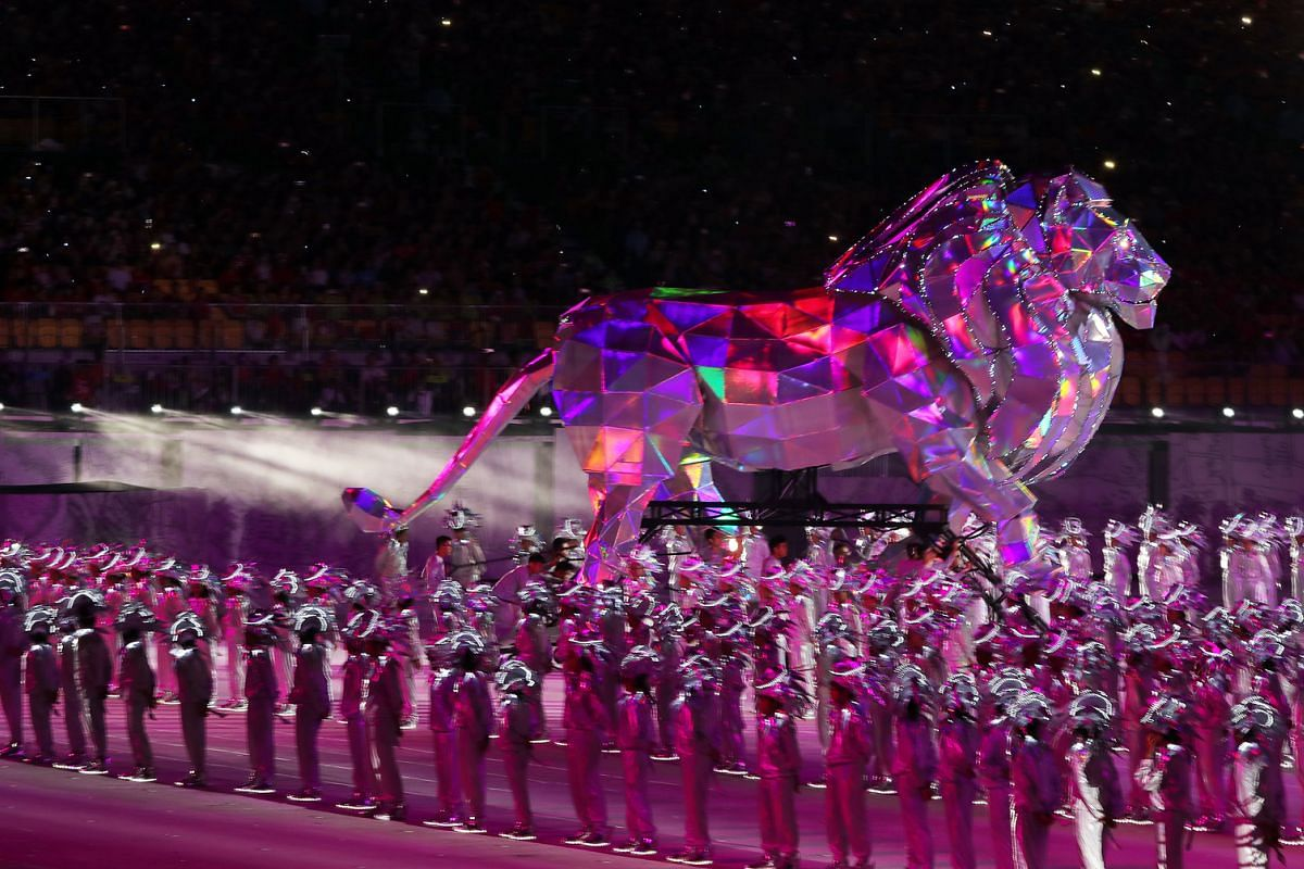 This year's National Day Parade will feature the largest-ever parade prop - a 6m-tall metallic lion weighing about 1,000kg.