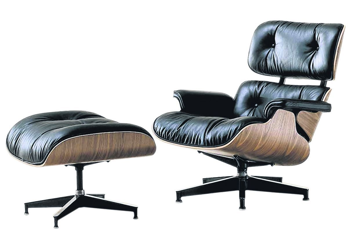 Eames Lounge and Ottoman by Herman Miller.