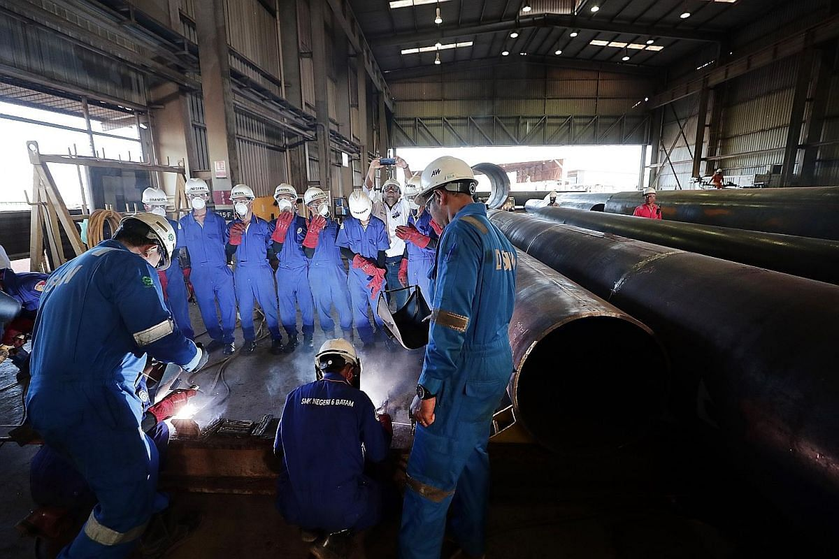 A Lion Air aircraft repair facility in Batam. Aircraft maintenance, repair and overhaul is an emerging industry for which Indonesian Foreign Minister Retno Marsudi is hoping for cooperation with Singapore. Air Mas village, an indigenous Orang Asli en