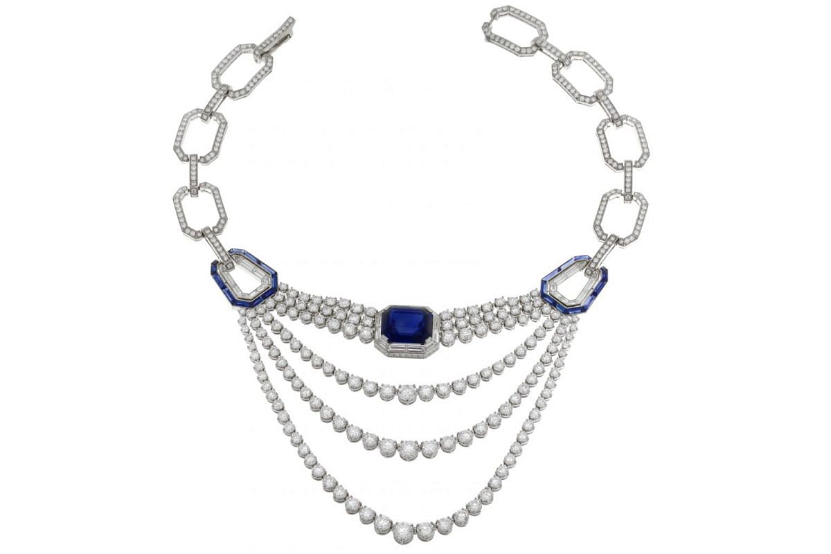 The Star Of Venice has, among other gems, an octagonal 23.67-carat sapphire, three brilliant-cut diamonds and 24 buff-top sapphires. It was created to celebrate Bulgari dressing celebrities at the Venice International Film Festival, the oldest film f