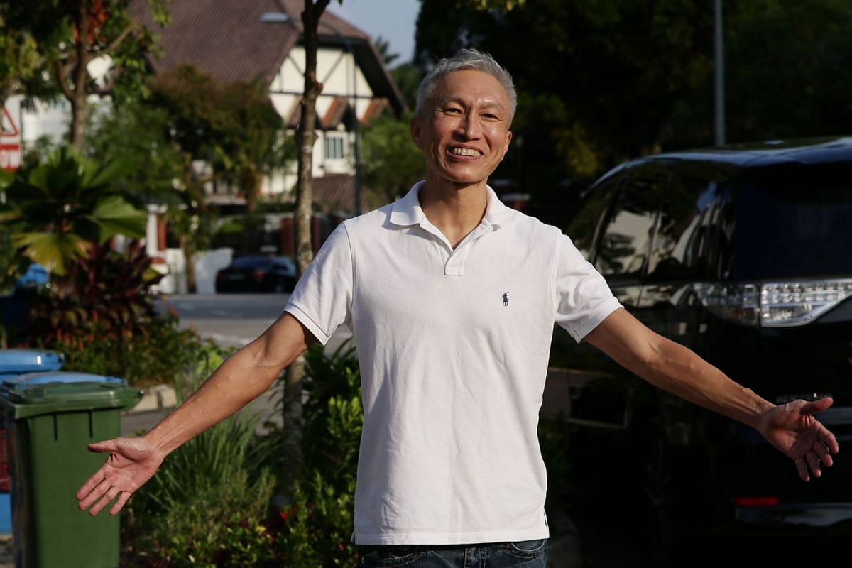 City Harvest Church founder Kong Hee outside his home in Upper Bukit Timah on August 22, 2019. He was released from Changi Prison earlier in the day after serving more than two years for his role in misusing millions of dollars in church funds. PHOTO