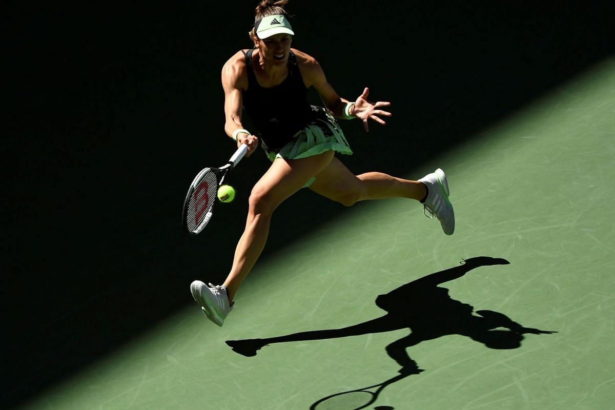 Andrea Petkovic of Germany hits to Petra Kvitova of the Czech Republic in the second round on day four of the 2019 U.S. Open tennis tournament at USTA Billie Jean King National Tennis Center, Aug 29, 2019 in Flushing, NY, USA. PHOTO: USA TODAY SPORTS