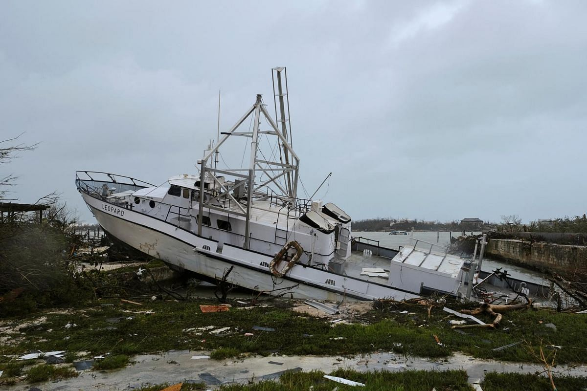 Damage in the aftermath of Hurricane Dorian on the Great Abaco island town of Marsh Harbour, Bahamas, on Sept 2, 2019.