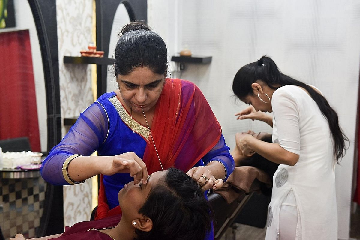 Little India eyebrow-threading parlours face manpower