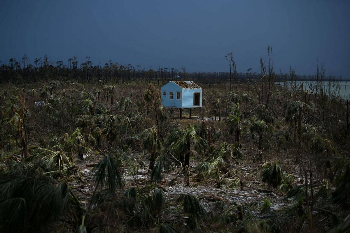 A destroyed house is seen in the wake of Hurricane Dorian in Marsh Harbour, Great Abaco, Bahamas, on Sept 8, 2019.