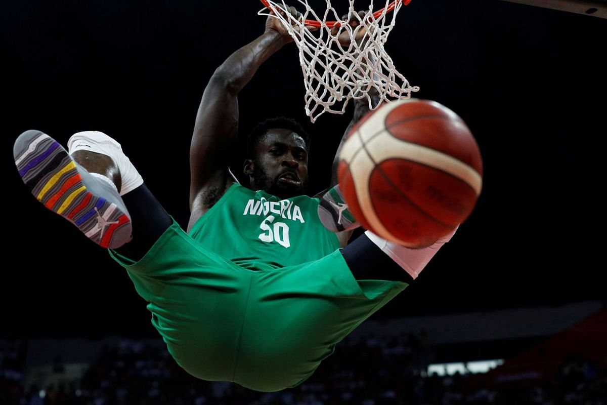 Nigeria's Ekpe Udoh in action during the China vs Nigera FIBA World Cup basketball game in Guangzhou, China on September 8, 2019. PHOTO: REUTERS