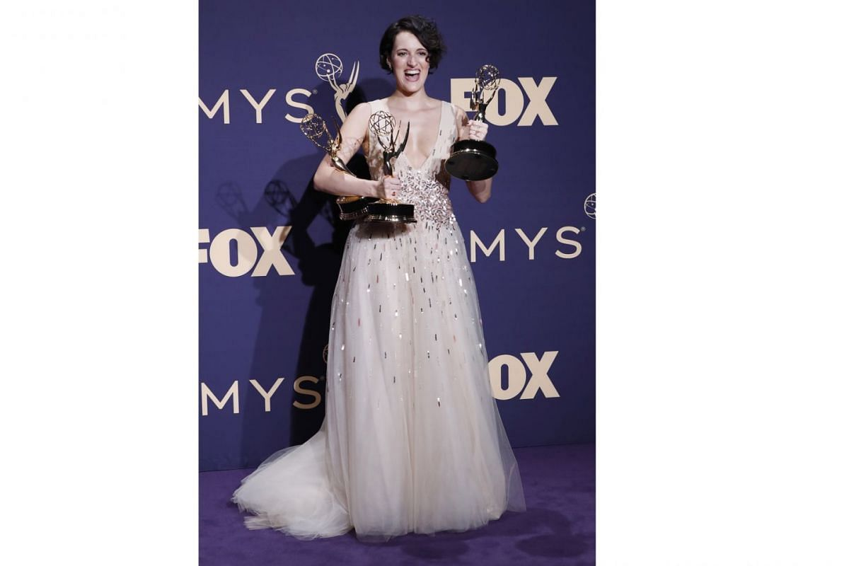 Actress-writer-producer Phoebe Waller Bridge bagged Outstanding Lead Actress in a Comedy Series and Outstanding Writing for a Comedy Series for Fleabag. The comedy-drama also picked up Outstanding Comedy Series and Outstanding Directing for a Comedy