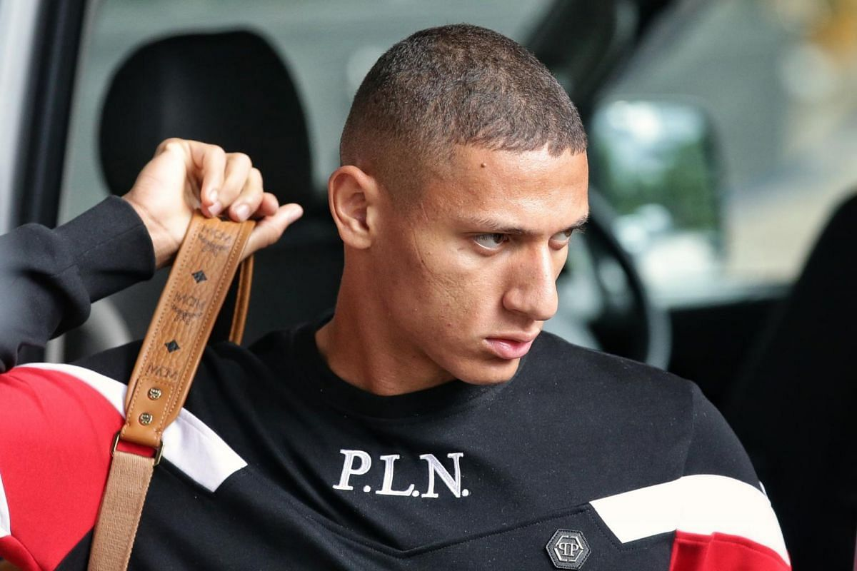 Richarlison arriving at JW Marriott Singapore South Beach as part of the Brazil Global Tour on Oct 7, 2019.