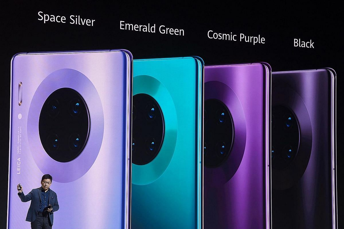 Mr Richard Yu, head of Huawei's consumer business group, during a presentation of Huawei's Mate 30 and Mate 30 Pro in Munich, Germany, last month.