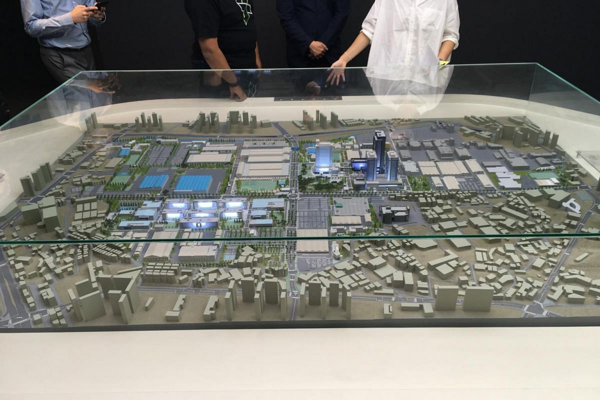 A mock-up of the sprawling Samsung Digital City. At 390 acres (157.8 hectares), the massive complex covers an area equivalent to around 295 football fields. More than 32,000 employees work at the facility, which accounts for around 10 per cent of Sam