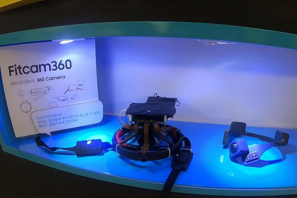 A wearable camera that was developed by a Samsung employee under the C-Lab initiative.