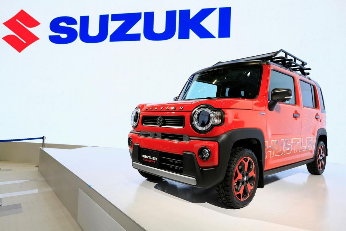 Suzuki's Hustler Concept car is displayed during the Tokyo Motor Show, in Tokyo on Oct 23, 2019.