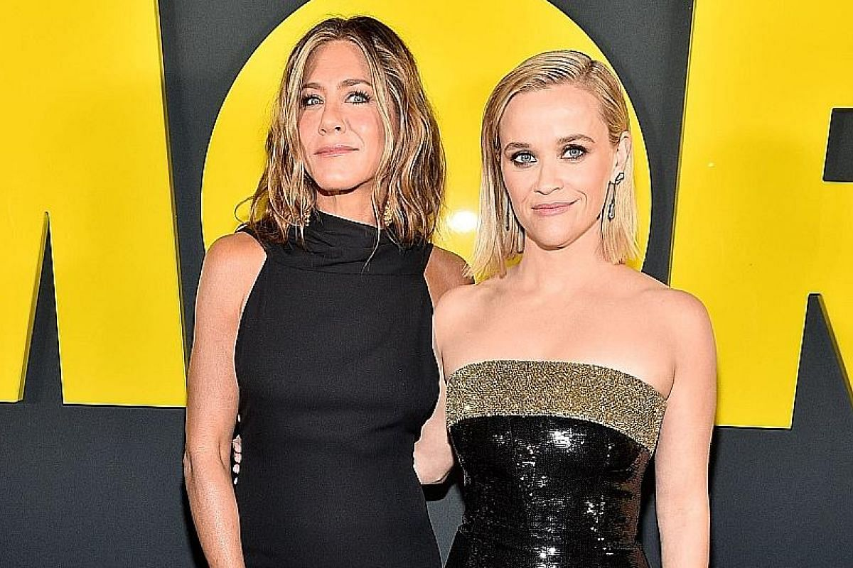 The Morning Show stars Jennifer Aniston (above left) and Reese Witherspoon.