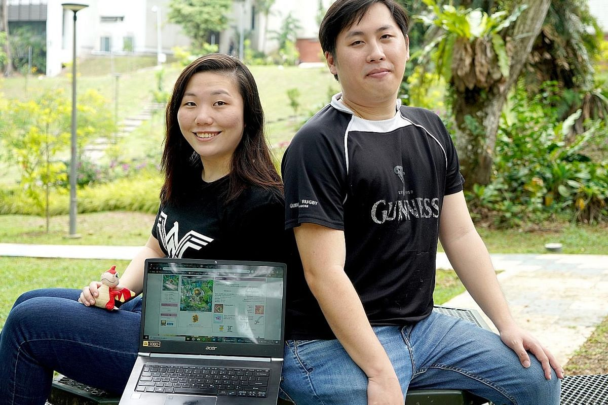 Ms Nicole Ng, 22, started playing Neopets when she was four, while Mr Gregory Tan, 31, started when he was 11. Both are still playing the game today.