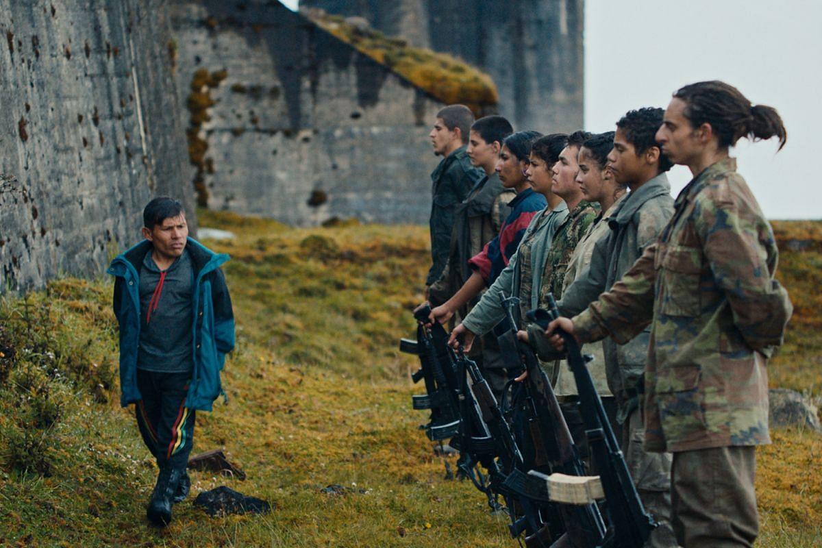 Monos (above) by Colombian- Ecuadorian film-maker Alejandro Landes; and No. 7 Cherry Lane by Hong Kong director Yonfan.