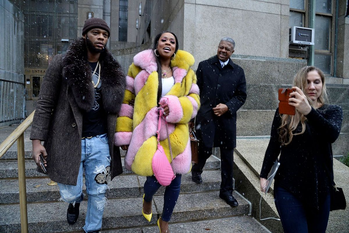 Rapper Remy Ma exits the Manhattan Criminal Court after charges were dismissed in her assault case in New York, U.S., December 2, 2019. PHOTO: REUTERS