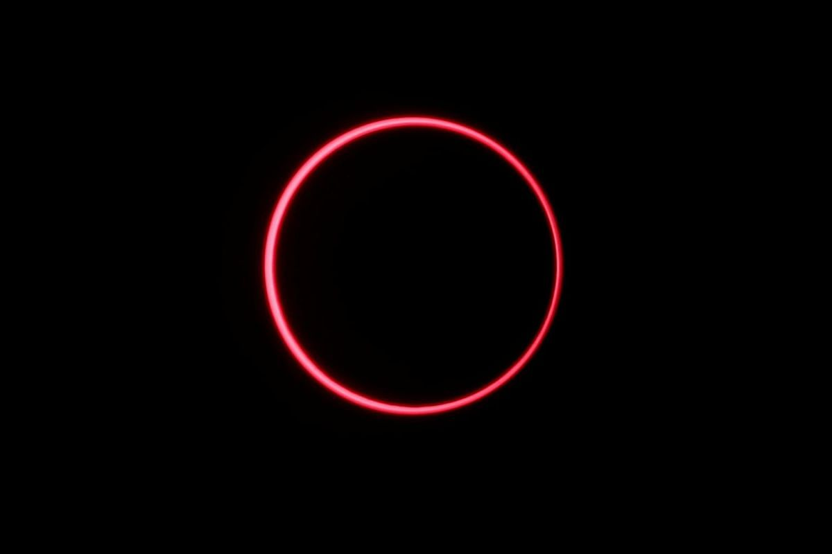 An annular solar eclipse is observed with the use of a solar filter, in Siak, Riau province, Indonesia, on Dec 26, 2019.