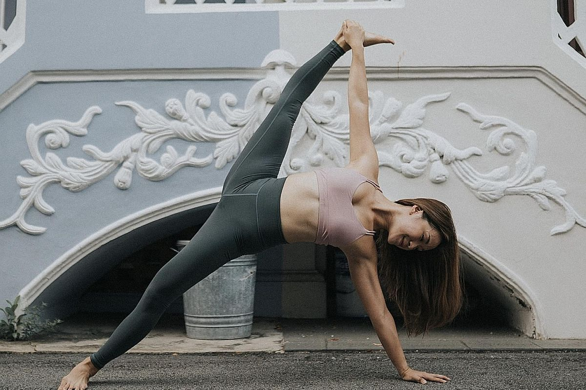 Ms Roxanne Gan, who co-owns new yoga studio Zoi Yoga, also posts tutorials on her Instagram account.