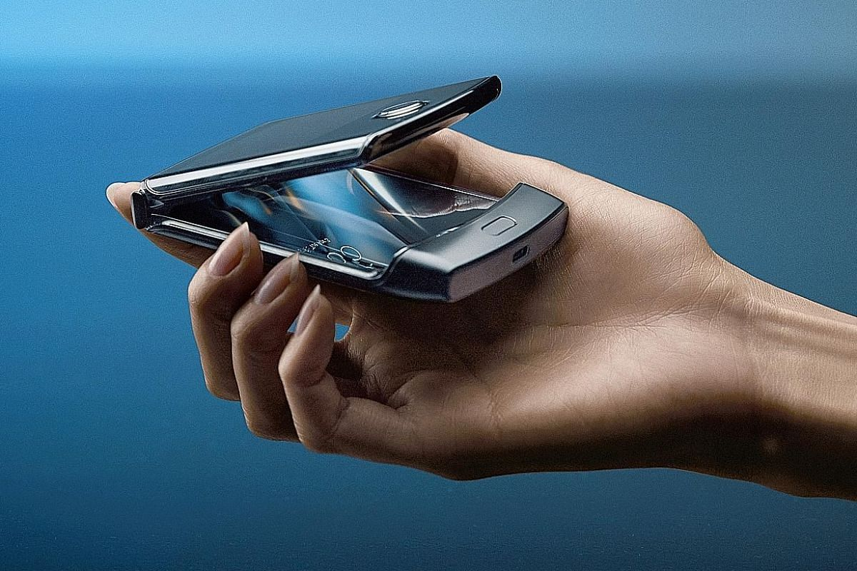 A Motorola Razr phone. Foldable phones may become smaller and more pocket-size-friendly.