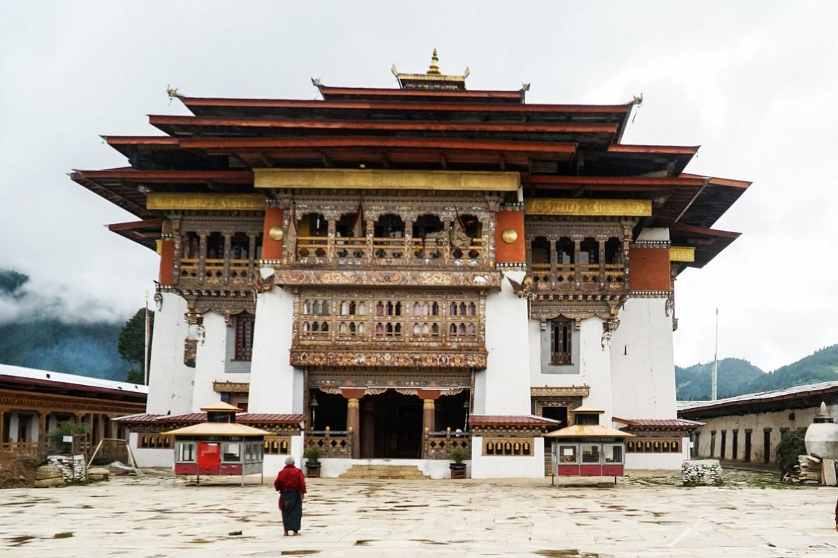 Consider Bhutan, where you can see Gangtey Goemba, a monastery located on a hill overlooking the Phobjikha Valley.