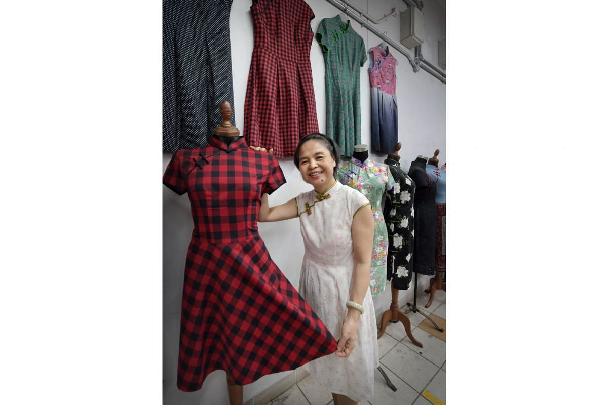 Ms Li Qiying picked up the finer points of sewing from her mother and has been servicing a loyal customer base since 2007.