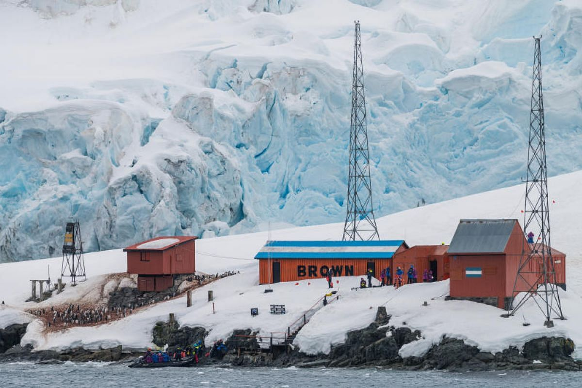 The Argentinian Brown Station at Paradise Bay was first built in 1951 as a scientific research station. There are as many as 70 research stations belonging to different countries dotting the Antarctic peninsula.