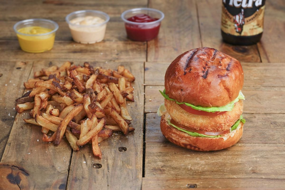 Burger Frites offers classic comfort food such as its breaded brie burger and double-fried fries.