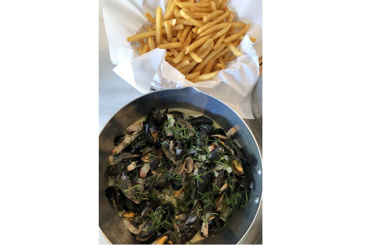 Hits: Bouchot Mussels Ardennaise ($36 for 500g to $58 for 1kg)