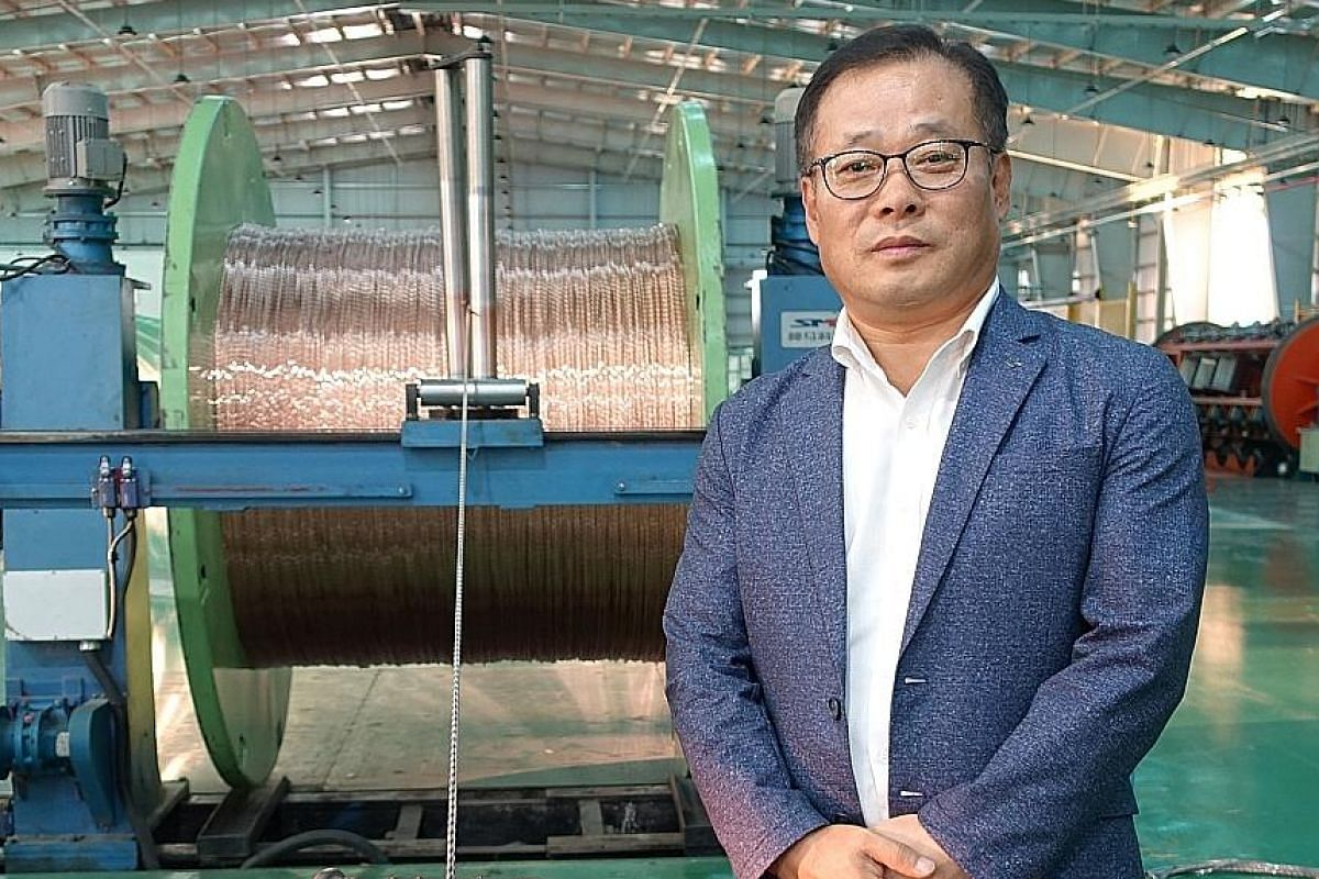 SOUTH KOREA Mr Son Taewon, managing director of LS-Gaon Cable Myanmar, at his cable factory in the Thilawa Special Economic Zone (SEZ). He says LS-Gaon can sustain its current operations in Myanmar for 10 or 20 years.