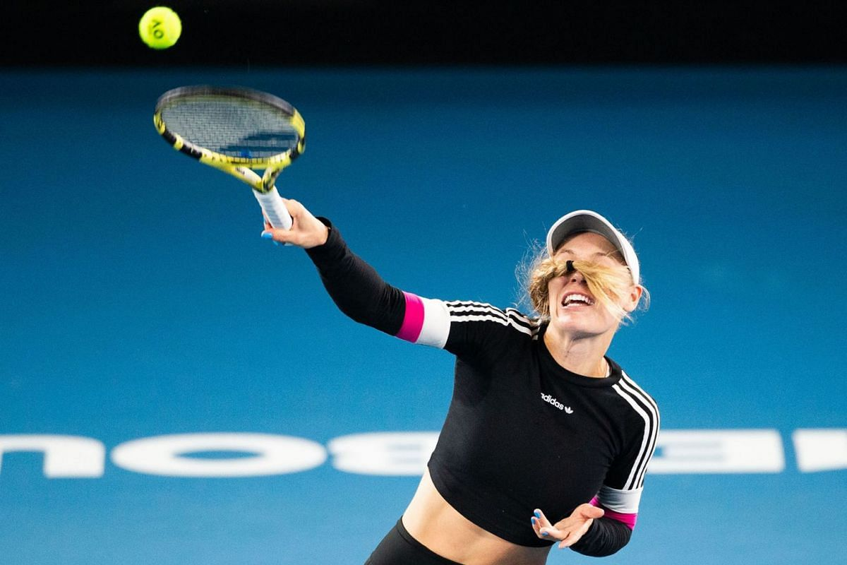 Caroline Wozniacki of Denmark attends a practice session in Melbourne on January 16, 2020, ahead of the Australian Open tennis tournament. PHOTO: AFP