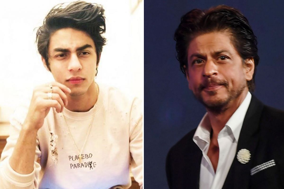 Aryan Khan (left) and his father Shah Rukh Khan (right) lent their voices to the Hindi version of The Lion King.