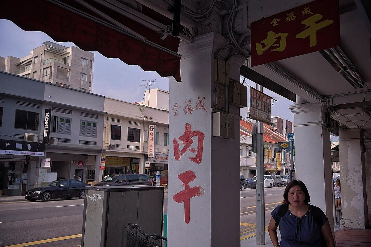 In the run-up to Chinese New Year, the wall of Mr Ong's shop is plastered with orders. It is an organised system that corresponds to the date of collection. The paint may be fading, but the scent of Mr Ong Geok Hoo's barbecued meat is strong. Kim Hoc