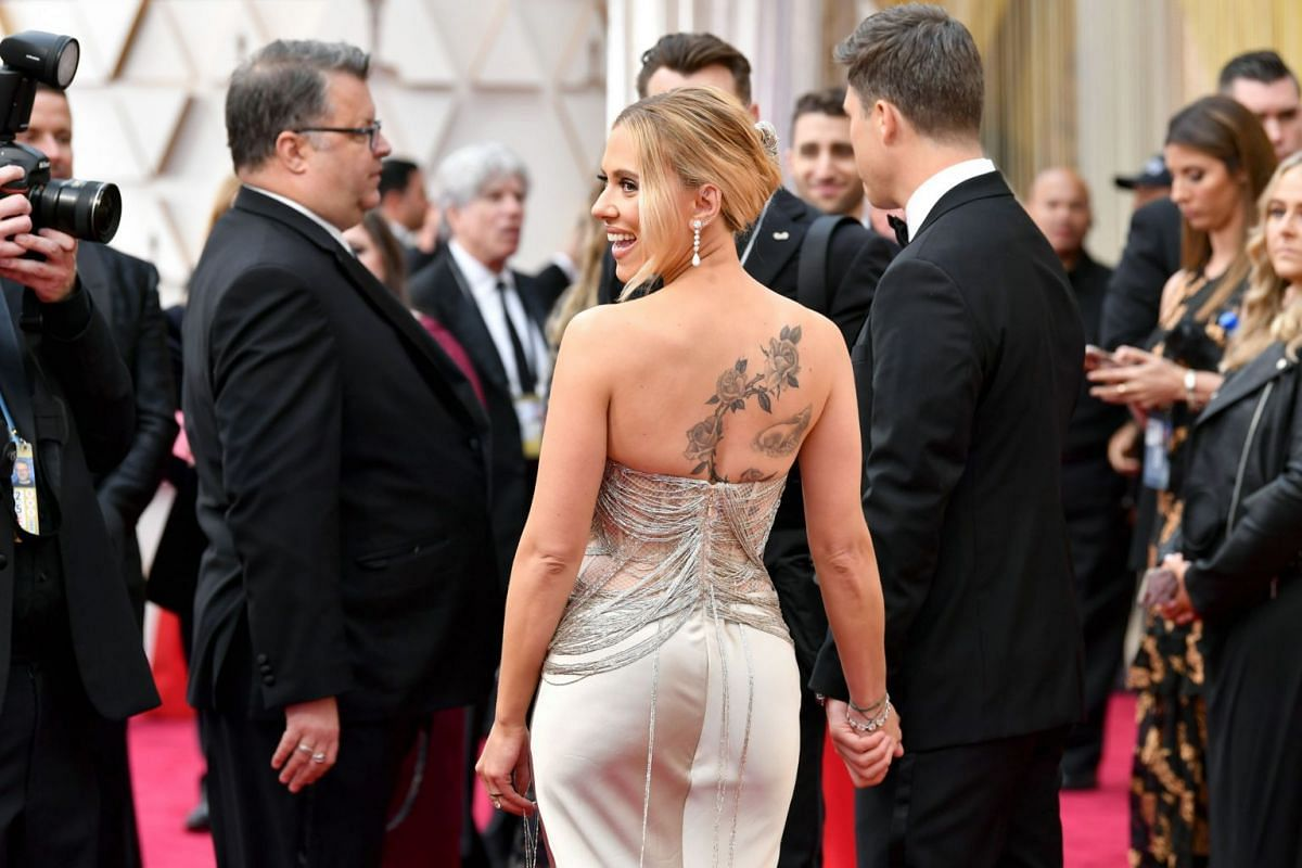 Scarlett Johansson at the 92nd Annual Academy Awards in Hollywood on Feb 9, 2020.