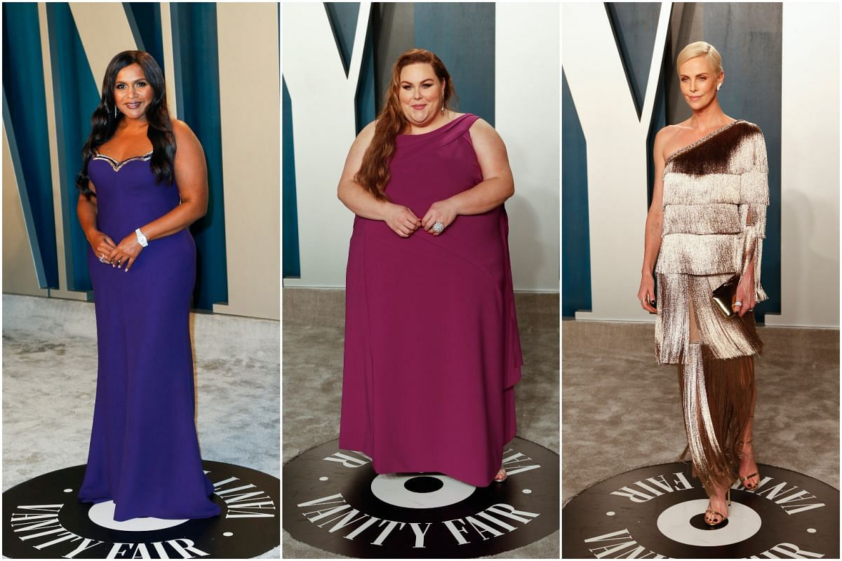 Actresses Mindy Kaling, Chrissy Metz and Charlize Theron.