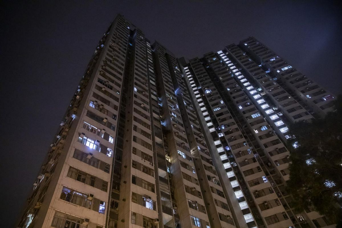 A view of residential buildings at Cheung Hong Estate in the Tsing Yi district of Hong Kong on Feb 11, 2020.