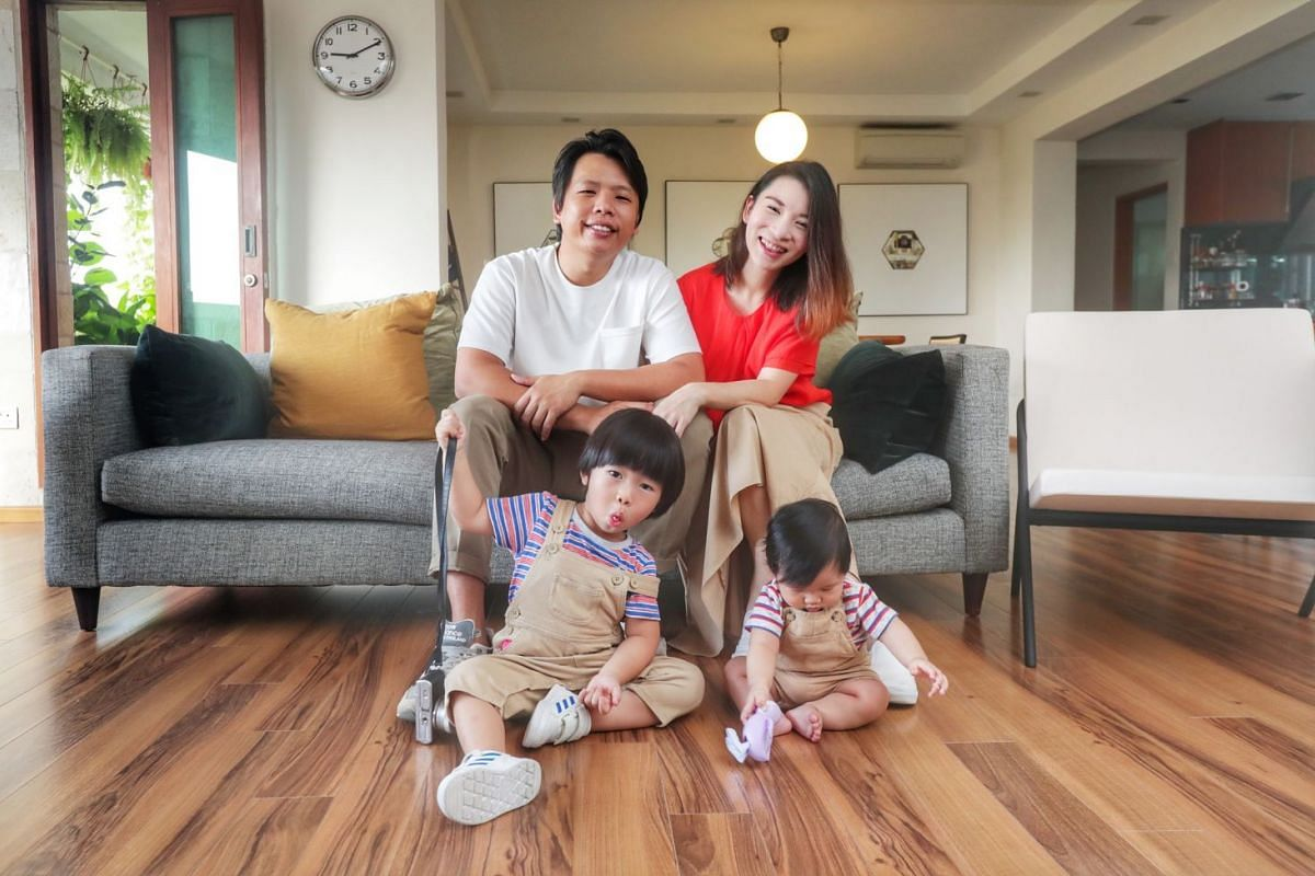 Beyond The Vines founders Daniel Chew and Rebecca Ting with their sons Oliver, three, and six-month old Christian.