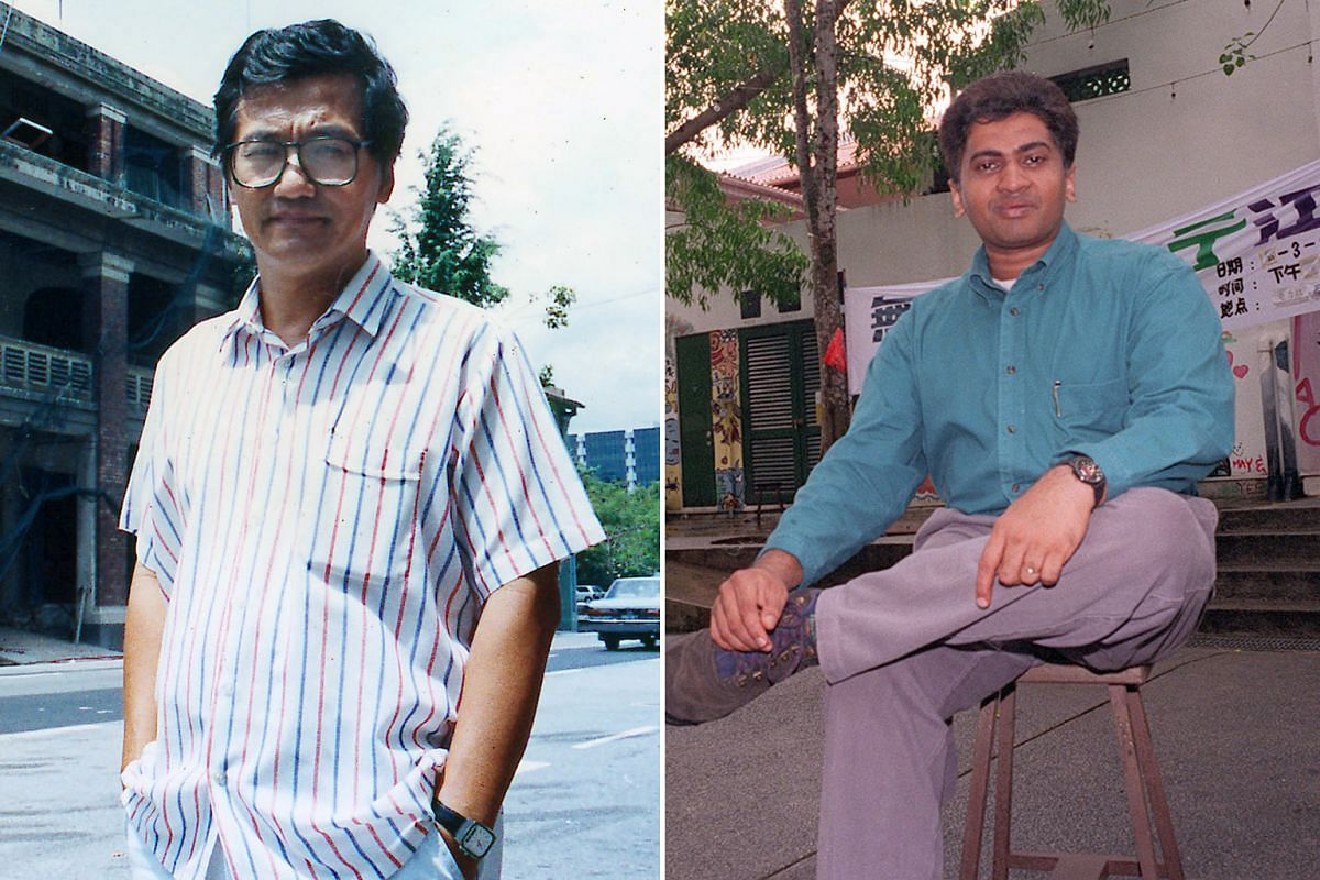 The Substation's directors through the years: Kuo Pao Kun (photo 1), Thirunalan Sasitharan (photo 2), Audrey Wong and Lee Weng Choy (both in photo 3), Noor Effendy Ibrahim (photo 4), Alan Oei (photo 5) and Raka Maitra and Woon Tien Wei (both right).