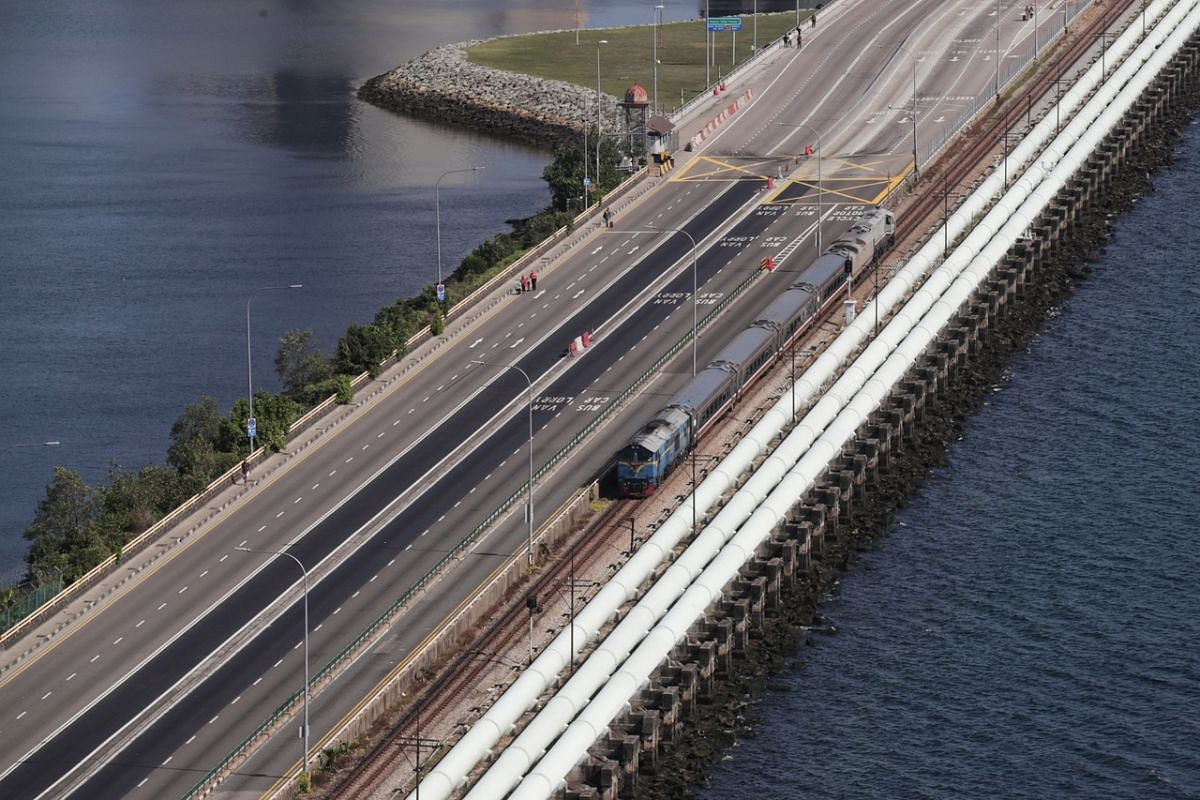 A view of the Woodlands Causeway at 10.05am on March 18, 2020.