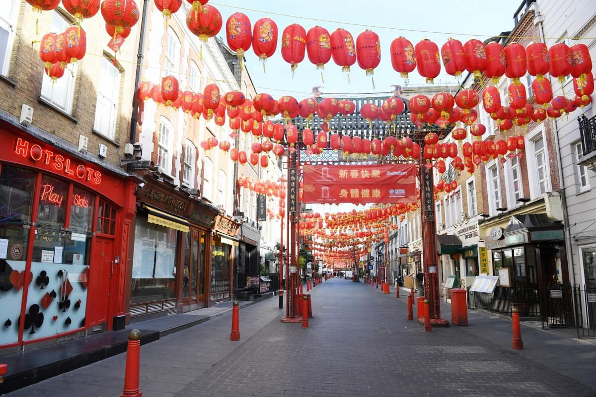 A deserted Chinatown in London, on March 21, 2020.