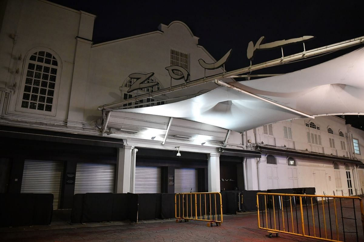 Nightclub Zouk in Clark Quay was closed at 12.30am on March 27, 2020.