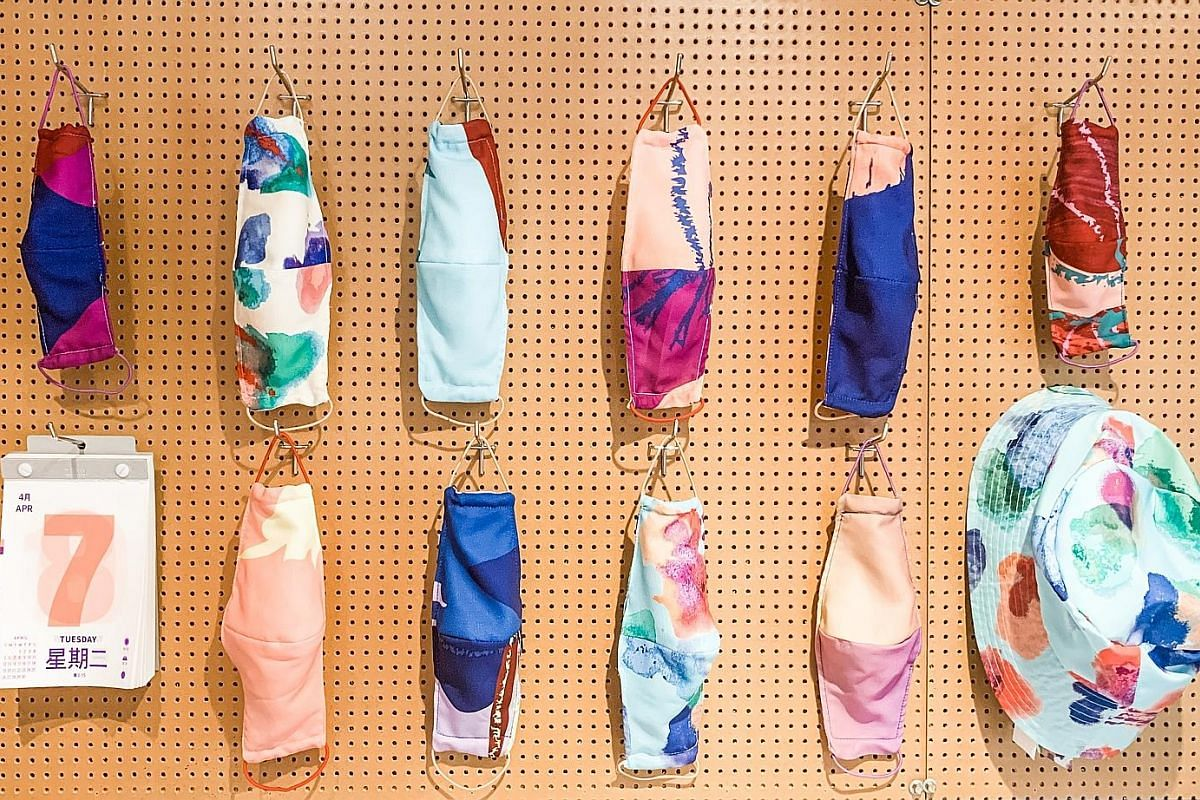 Print and textile studio Minor Miracles, which had to close its retail space in Funan mall less than a week after opening, has turned some of its colourful fabrics into masks.