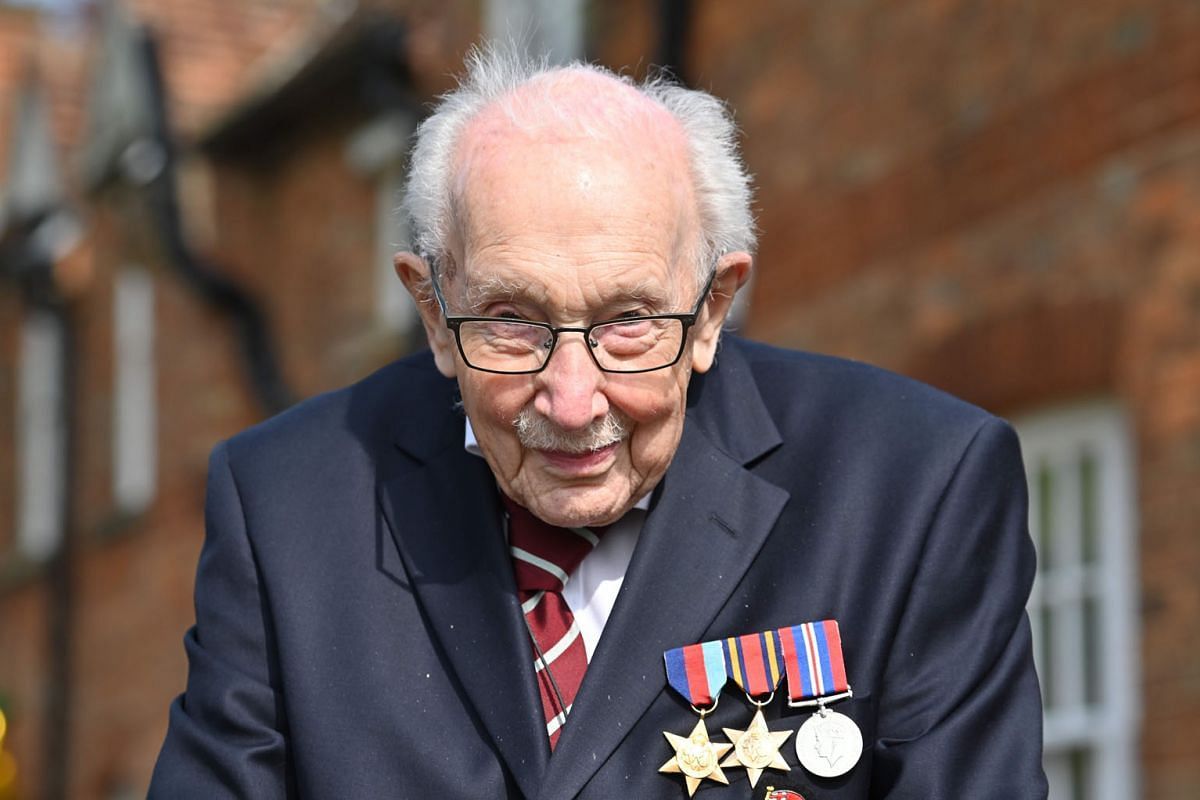 Tribute from one Captain Tom to another on his 100th birthday