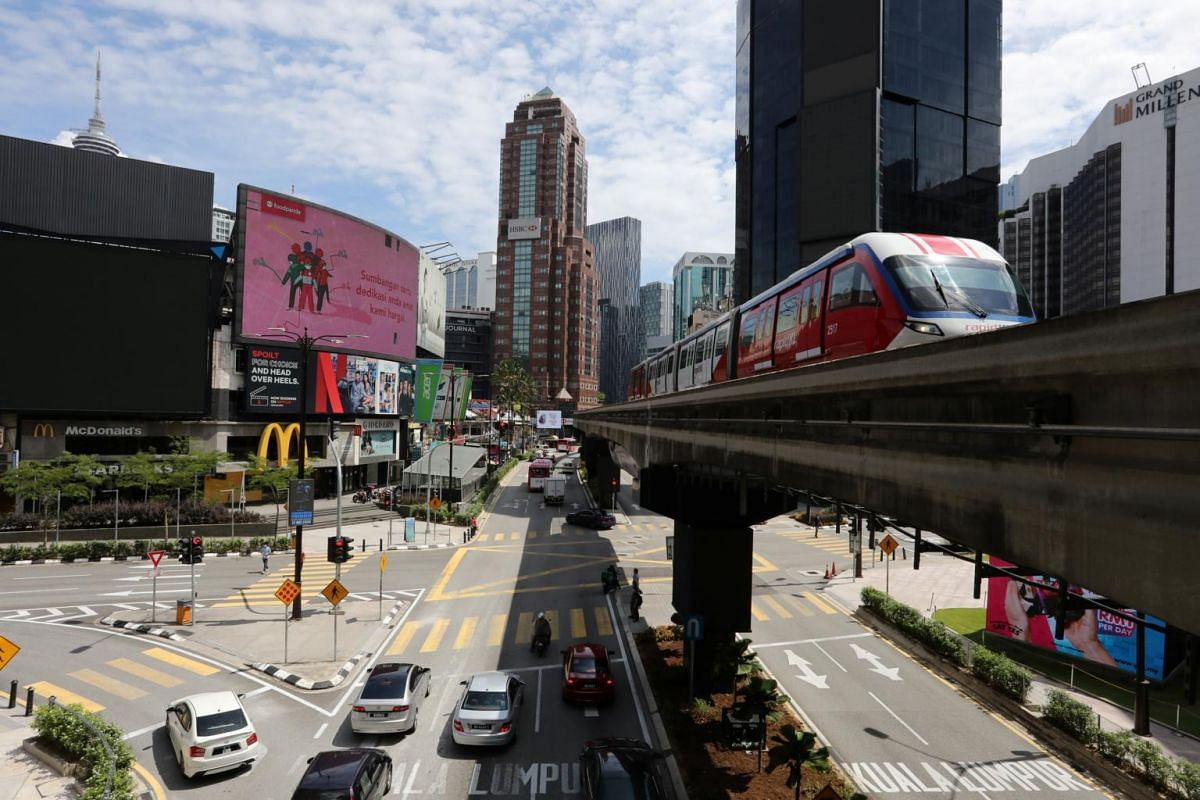 A view of increasingly busy streets after movement restrictions were lifted in Kuala Lumpur on May 4, 2020.