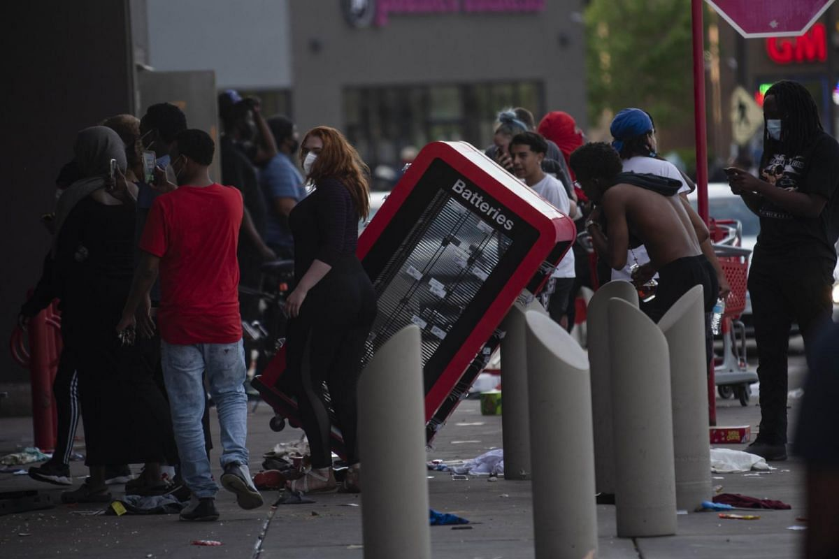 A view outside a Target store in Minneapolis, Minnesota on May 28, 2020.