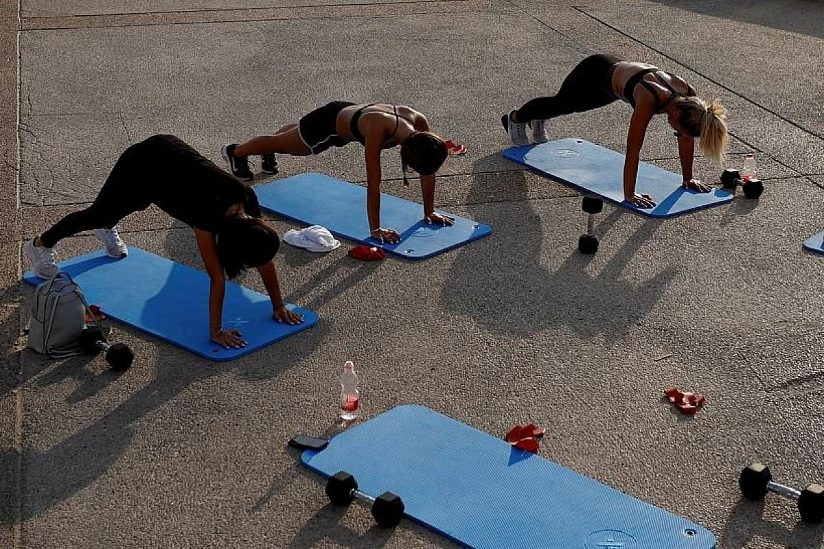 Exercise regularly during the pandemic to maintain good physical and mental health.