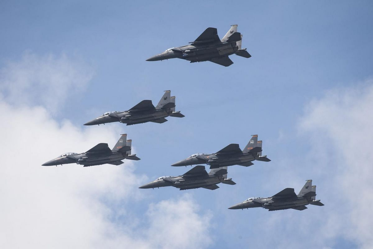 The state flypast and the aerial salute as viewed from SkyVille@Dawson on July 26, 2020.