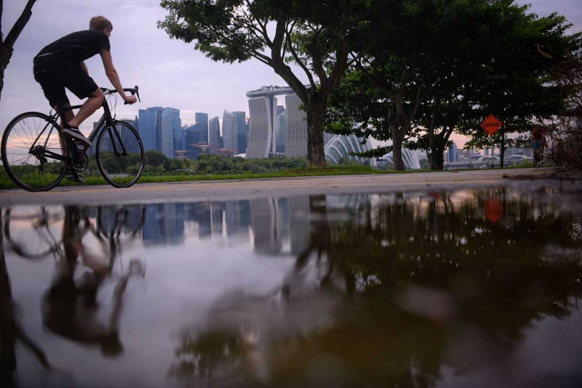 The Singapore skyline as seen from Gardens By The Bay East on 16 September, 2020. PHOTO: THE STRAITS TIMES/MARK CHEONG